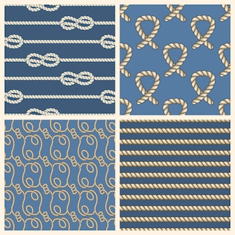 Conjunto de padrões sem emenda de vetores de cordas marinhas