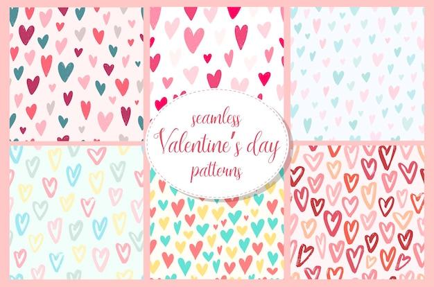 Conjunto de padrões sem emenda do dia dos namorados