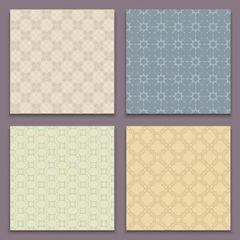 Conjunto de padrões sem emenda em estilo árabe