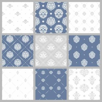 Conjunto de padrões vitorianos sem costura