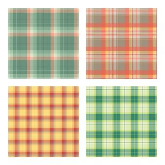Conjunto de padrões xadrez de lenhador sem emenda