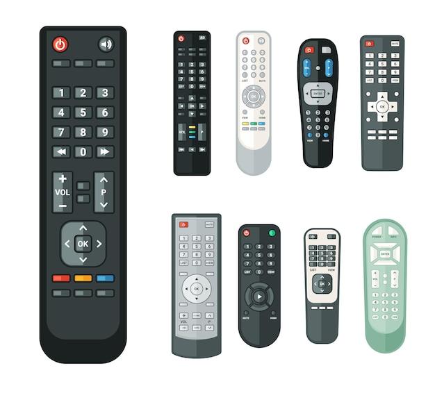 Conjunto de painéis de controle de aparelhos eletrônicos realistas