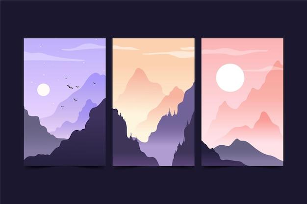 Conjunto de paisagens diferentes