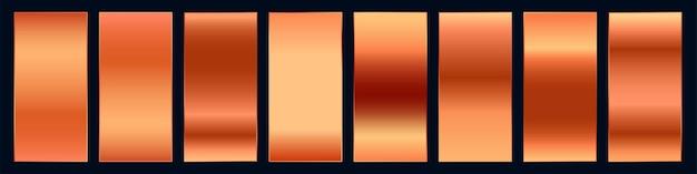 Conjunto de paleta de amostra de gradiente de cobre premium