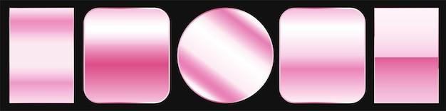 Conjunto de paleta de amostra gradiente ouro rosa