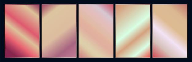 Conjunto de paletas de amostra gradiente de cobre ou ouro rosa