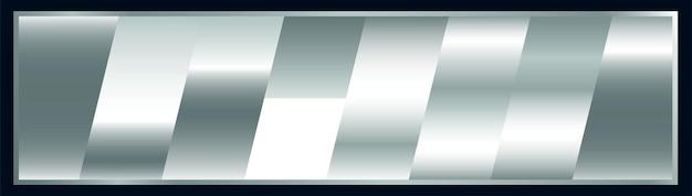 Conjunto de paletas de amostras de gradiente de prata premium