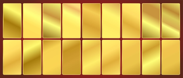 Conjunto de paletas de amostras de gradiente deep gold premium