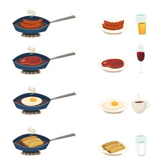 Conjunto de pan de pequeno-almoço