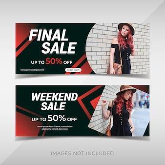 Conjunto de panfleto de moda promoção