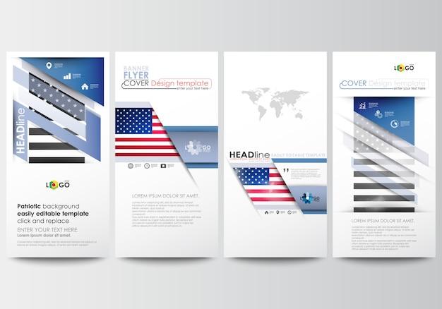 Conjunto de panfletos, banners modernos. modelos de negócios. modelo de design de capa