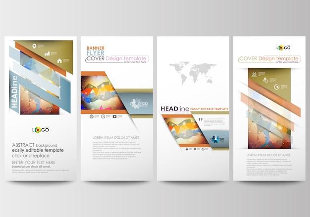 Conjunto de panfletos, banners modernos. modelos de negócios.