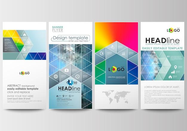 Conjunto de panfletos, banners modernos.