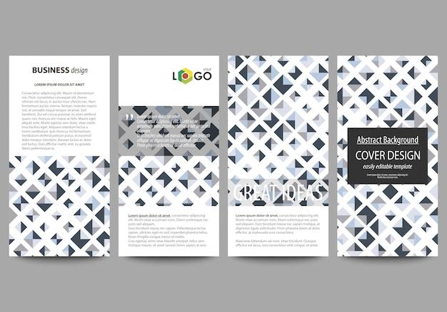 Conjunto de panfletos