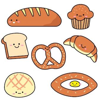 Conjunto de pão de variedade