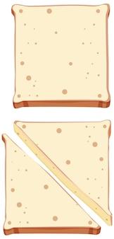 Conjunto de pão e torradas saudáveis