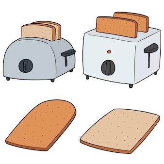 Conjunto de pão e torradeira