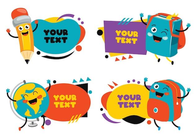 Conjunto de papéis coloridos para anotações