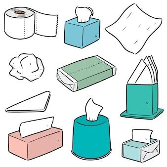 Conjunto de papéis de seda