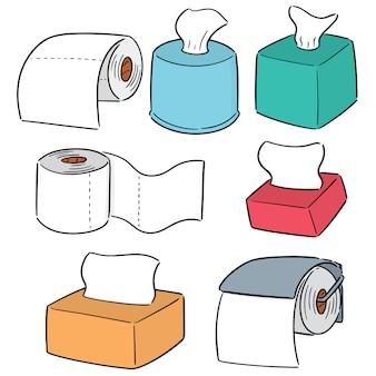 Conjunto de papéis de tecido