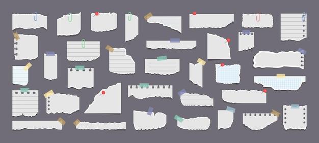 Conjunto de papéis para notas adesivas
