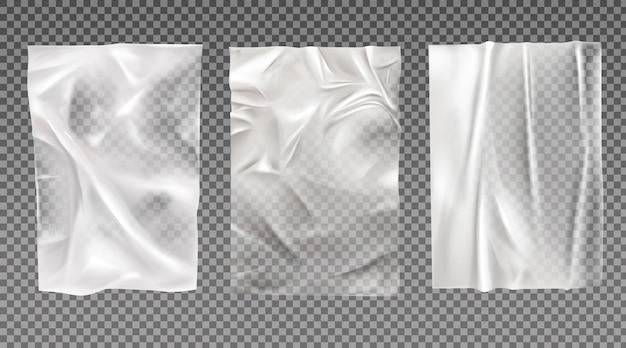 Conjunto de papel branco molhado