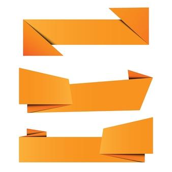 Conjunto de papel de origami banner