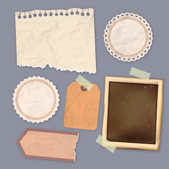 Conjunto de papel de scrapbook vintage