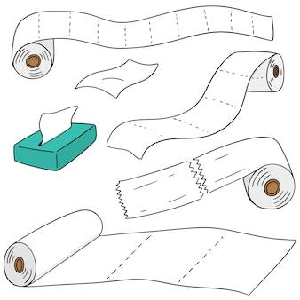Conjunto de papel de seda