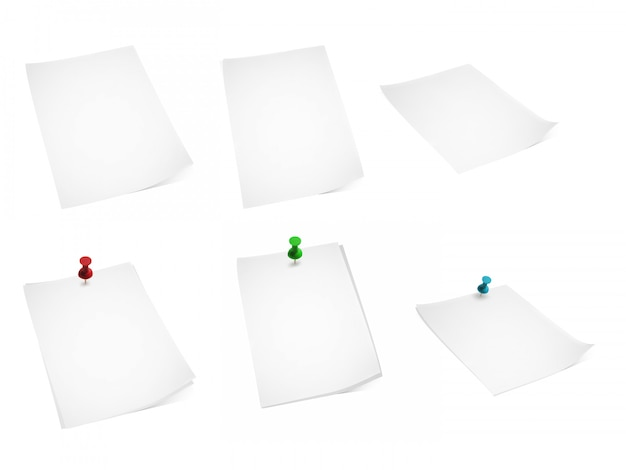 Conjunto de papel e alfinetes