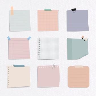 Conjunto de papel para anotações