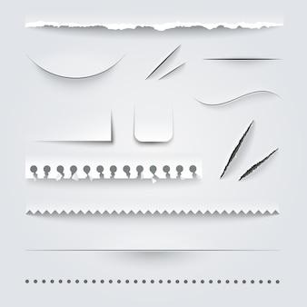 Conjunto de papel perfurado