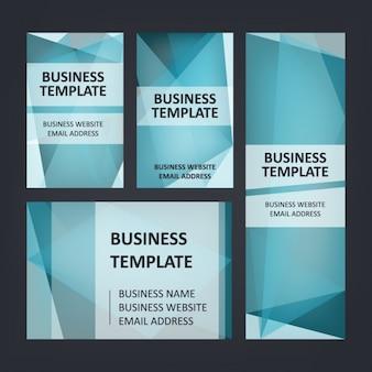 Conjunto de papelaria azul do negócio