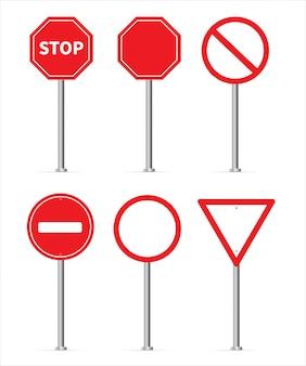 Conjunto de parada de sinal de tráfego