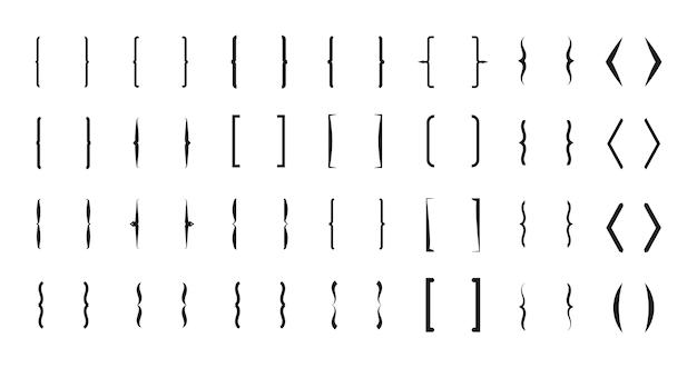 Conjunto de pares de colchetes