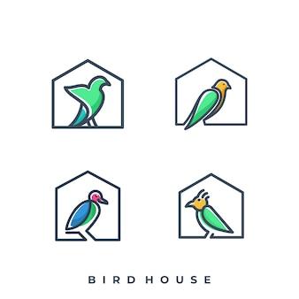 Conjunto de pássaro com casa