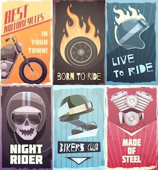 Conjunto de passeio de poster vintage
