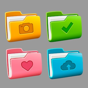 Conjunto de pastas de ícones