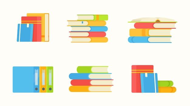 Conjunto de pastas e livros