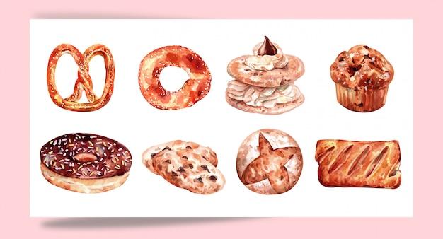 Conjunto de pastelaria de cozimento para projetar
