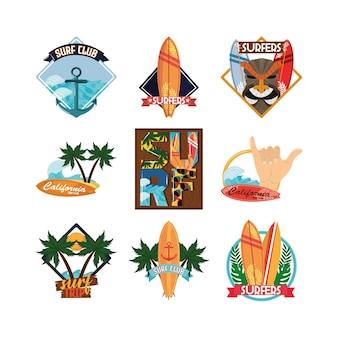 Conjunto de patches de surf