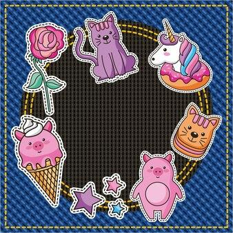 Conjunto de patches feminino