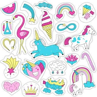Conjunto de patches mágicos bonitos