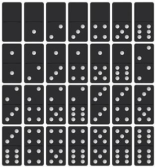 Conjunto de peças de dominó