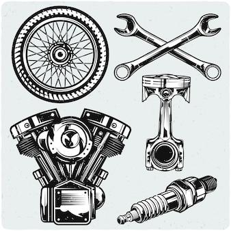Conjunto de peças de moto