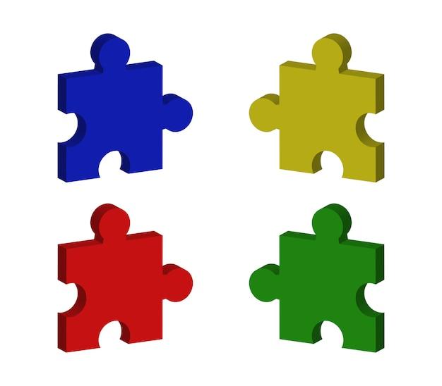 Conjunto de peças de quebra-cabeça