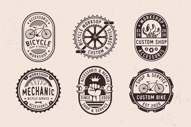 Conjunto de peças e acessórios vintage para bicicletas de garagem