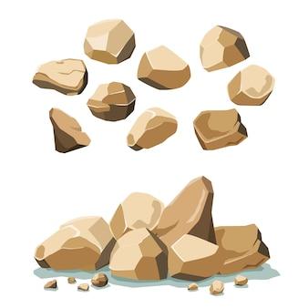 Conjunto de pedra e pedra