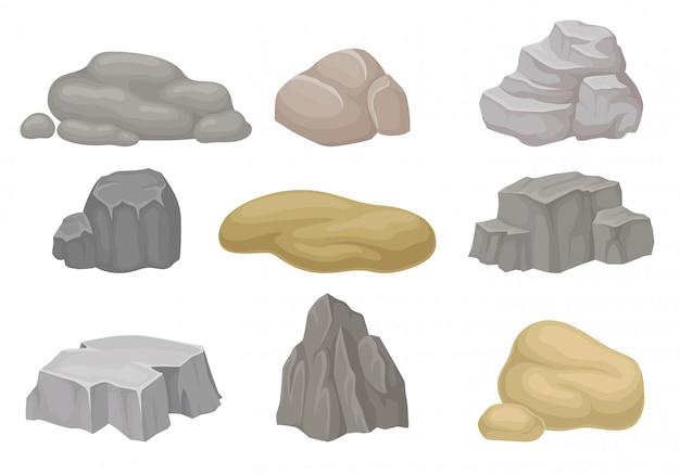 Conjunto de pedras e rochas.