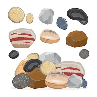 Conjunto de pedras e rochas